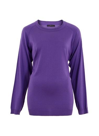 Butik Triko 2316 Basic Bluz Lila